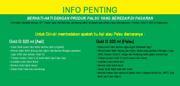 Perbedaan Gold-G Asli & Palsu